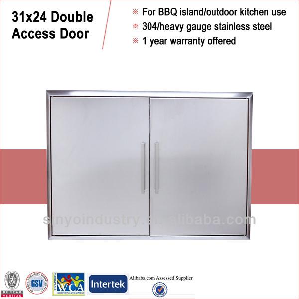outdoor kitchen built in access door view outdoor kitchen