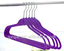 Wholesale Cheap Purple Velvet set clothes Hangers,Velvet Coated Purple set clothes Hangers