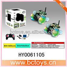 360 degrees single wheel rotation mini rc stunt car with light HY0061105