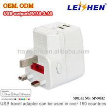 Worldwidely used corporate gift usb travel adaptor