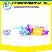 professional woven rfid wristband fabric rfid led wristband