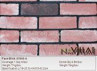 Thin Red Decorative face brick Interior wall siding 07055-A