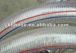 spring stainless steel wire reinforced PU industrial vacuum hose