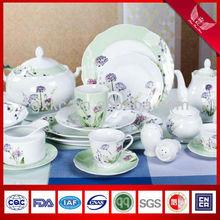 2013 hotsale new wave shape fine porcelain dandelion in-glazed dinner sets (SHZ0615)