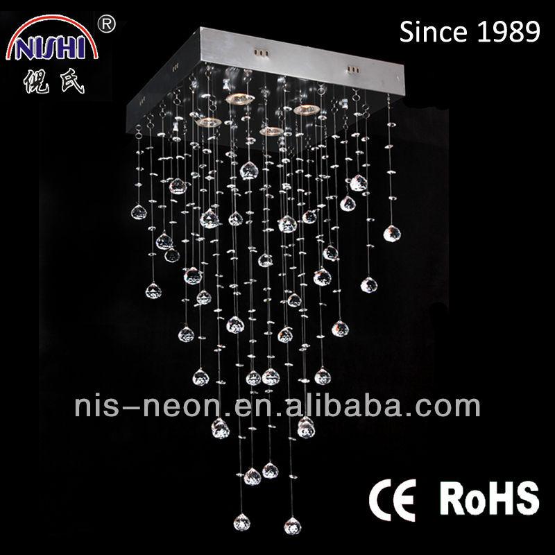 Oem design moderno stile chiaro cristallo appeso lampada da soffitto ...