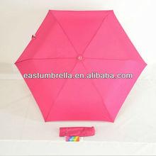 21 inch curve handle manual open 3 folding umbrella