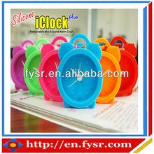 silicone quarter alarm clock silicone mini alarm clock