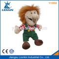 11004 peluche e farcito bambola giocattolo con la faccia clown