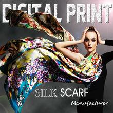 Colorful Silk Scarves OEM Printed Custom Scarf W1301