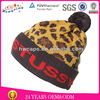 2014 Pom Custom Jacquard Knitted Beanie Hat With Top Ball