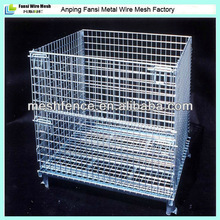 Alibaba express Metal folding steel storage mesh cage