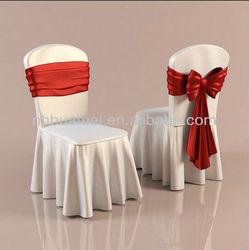 white wedding banquet chair cover