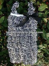 2014 Zebra Stripes Satin Romper lace romper for baby hot sale posh petti lace romper