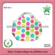 Pretty neoprene lunch bag for women/neoprene lunch bag/neoprene bags