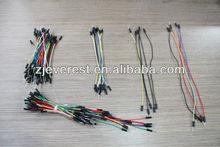 75 pcs macho para macho solderless breadboard flexível cabo jumper/fio
