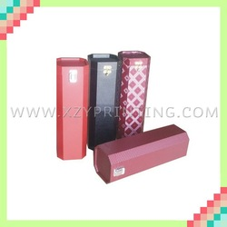 Handmade various shapes paper wine box with hot foil