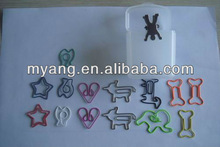 heart,human body, dog,star,bone,pig,fish,butterfly shape paper clips