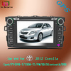 special double din 7inch car dvd player for toyota corolla