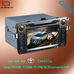 Car DVD navigation 2 din for toyota corolla 1999-2005