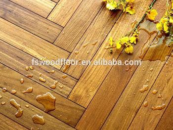 Strong water resistant solid burma teak wood flooring