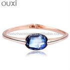 OUXI Rhodium Plated Bangle Bracelet Made with Swarovski Elements 50025