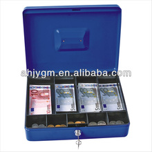 "Popular 9 interLayers 12"" Metal Cash Box/Strong Box"
