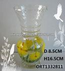 Decal printing glass vase, color glass vase Vase