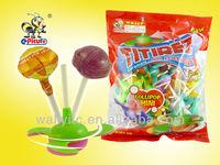 Hot selling Spinning Top Toy Lollipop Candy/Fan Lollipop