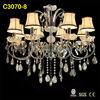 lamp shades tiffany fabric lighting modern crystal pendant light