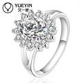 Brillant différents Styles de pierres précieuses Unique cz anneaux, Soleil argent anneaux