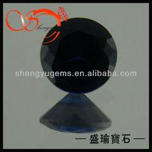blue sapphire supplier round blue large sapphire gemstones(SPRD-1.5-1040)
