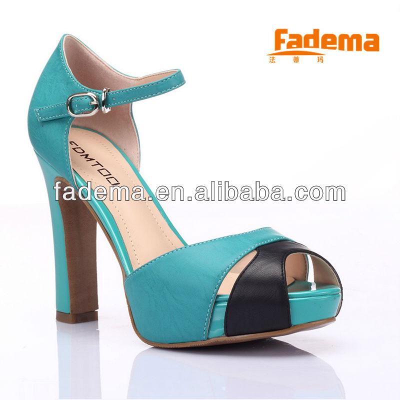 2013 moda çin toptan yüksek topuk bayan ayakkabıları