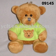 09145 plush and stuffed Bear boy,T-Shirt with Embroidery