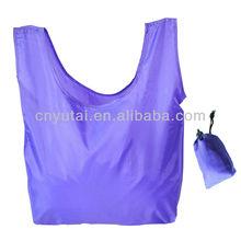 reusable folding nylon shopping bag