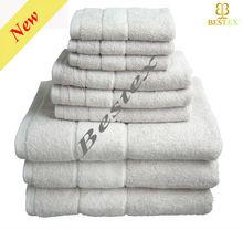 Caro Bright Wholesale Cool White Hotel Thin cotton Bath Towel