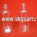 وقت طويل ووك مختبر الأواني الزجاجية الكوارتز شفافة للصناعات الكيماوية المستخدمة