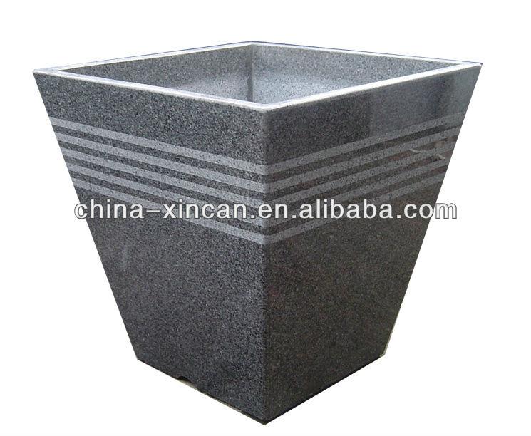 Beautiful granite flower pot garden stone plant pot view plant pot