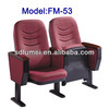 Floor mounting metal auditorium seat with writing pad FM-53