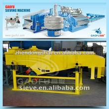 Large capacity vibrating sieve screener