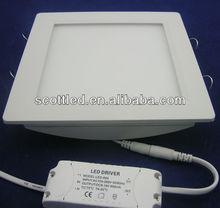 6000-6500k led recessed panel light, 18w led light panel zhongtian