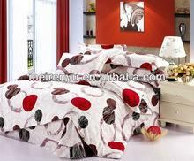 2015 hot sale duvet cover set 3d beautiful bed sheets luxury natural color cotton bedding set