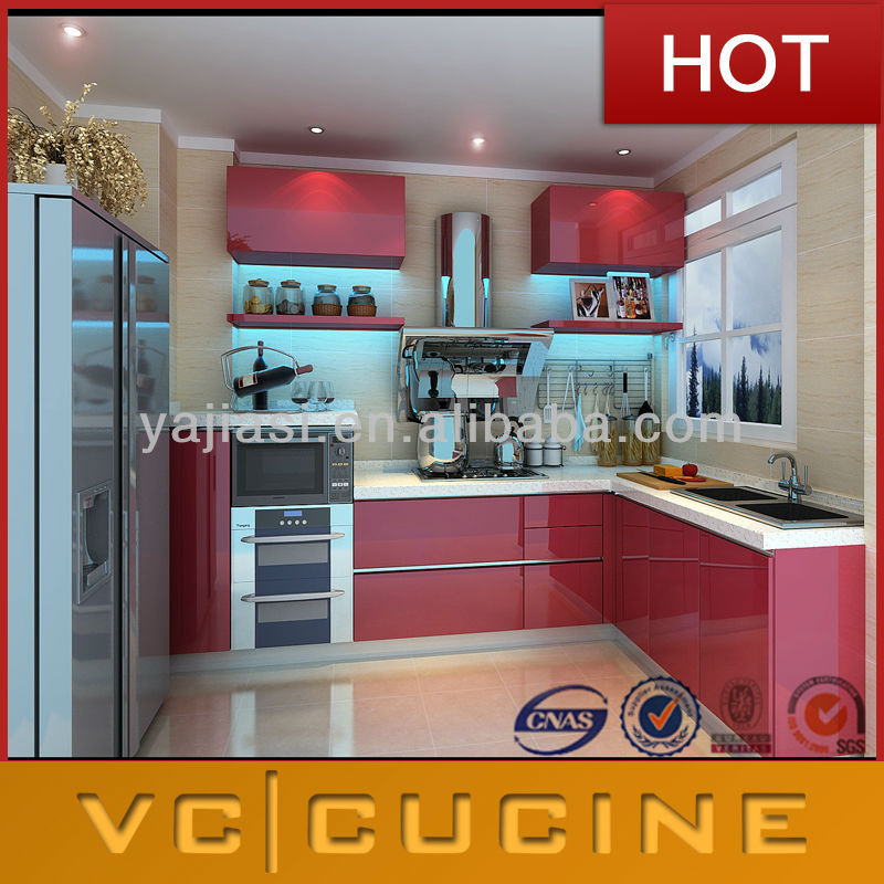 Red Ready Made Kitchen Cabinets With Sink View Ready Made Kitchen