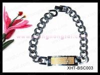 classic men's stainless steel cowboy bracelet gift