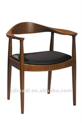 The Round Kennedy Chair/ solid wood chair / wood arm chair