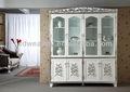 Antico francese scaffale/alibaba italia in legno massello speleologia enoteca/Eliza 4- porta credenza& 0041 libreria