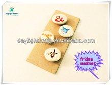 Fashion 2011 OEM Customize Ceramic Fridge Magnet