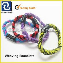 Fashion cheap bracelets, promotional gifts for knitted bracelets