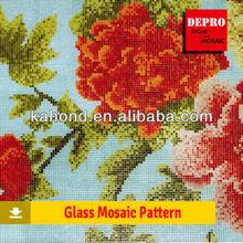 wonderful home adornment glass mosaic patterns