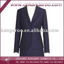 ladies wool/ployester business elegant women office skirt suit