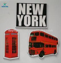 custom design diy home decor Bus Shape Paper Fridge Sticker (DW-2012)